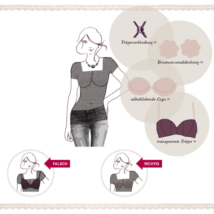 BHs f�r transparente Oberteile & extravagante Kleidung