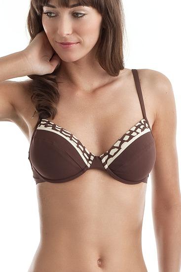 Abbildung zu Bügel-Bikini-Oberteil (1NC43) der Marke Sloggi aus der Serie Brown Ethno