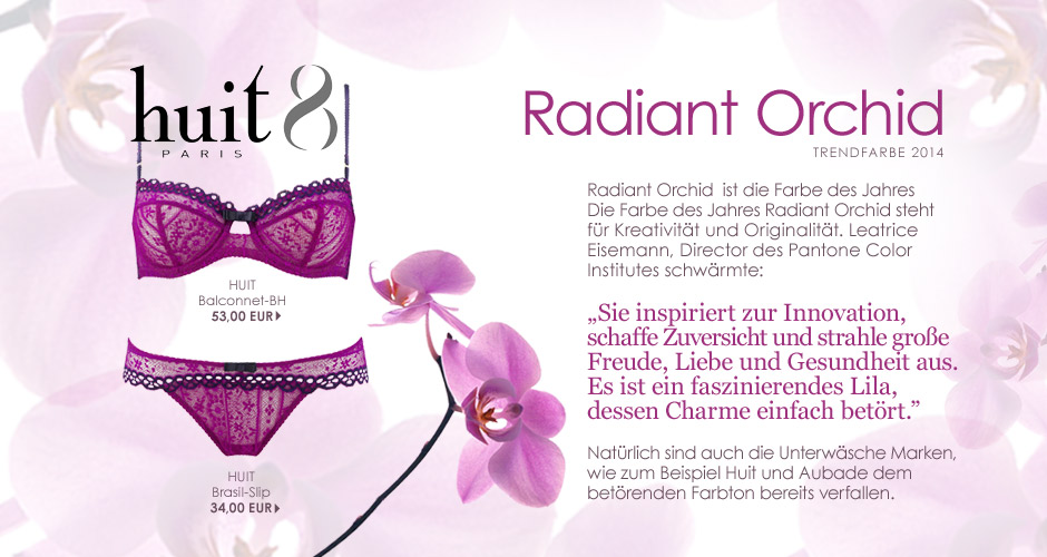Radiant Orchid dieTrendfarbe des Jahres 2014