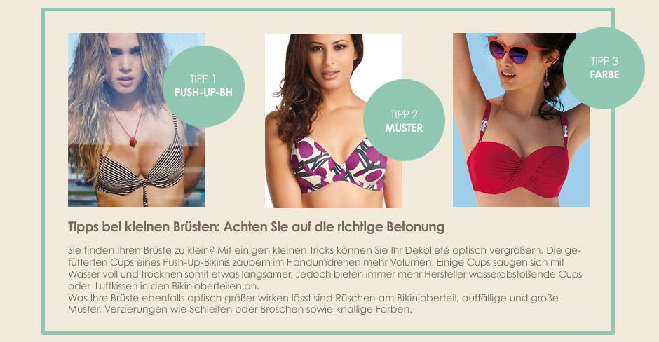 Bikini - Tipps für kleine Brüste