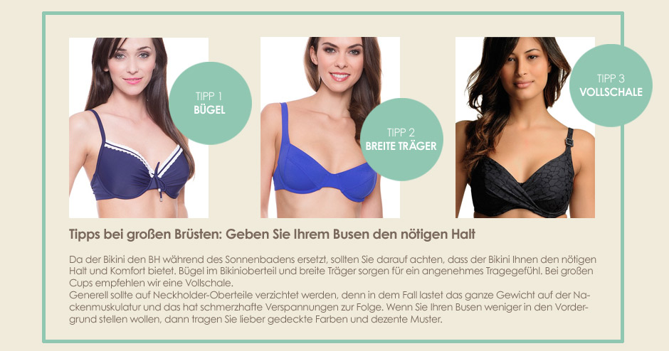 Bademode - Tipps für große Brüste