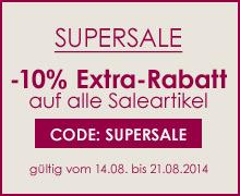 Supersale - noch mal 10% auf alle Saleartikel