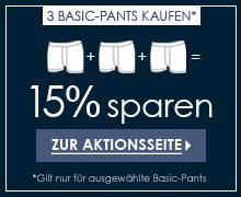 15% sparen beim Kauf von 3 Slips