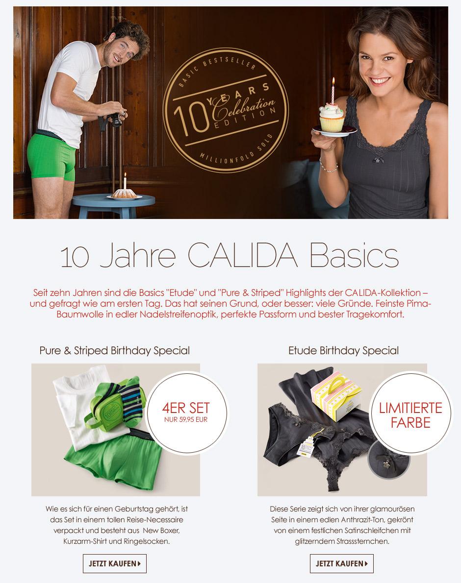 Calida - 10 Jahre Basic Serien