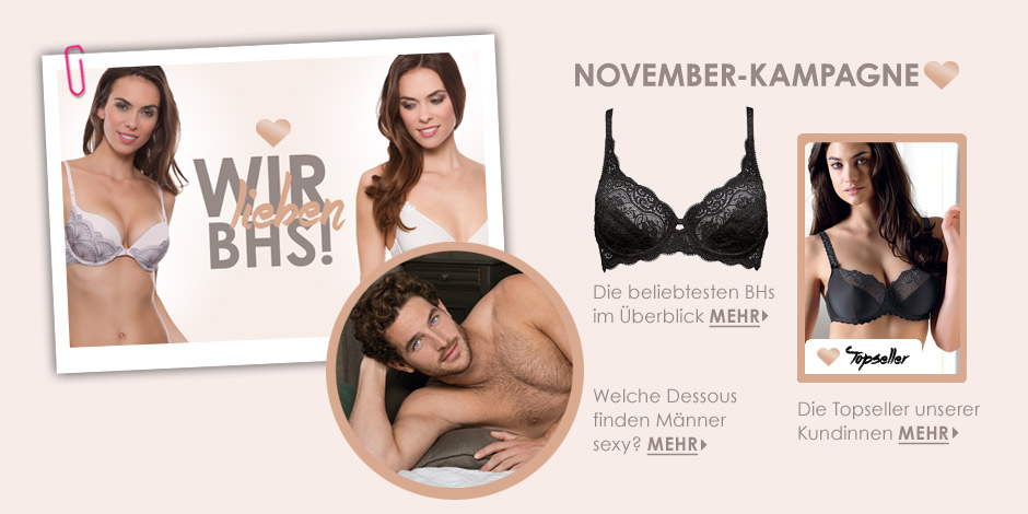 November Kampagne - Wie lieben BHS!