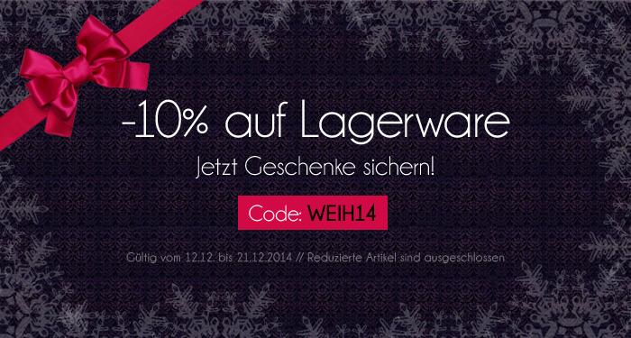 10% Rabatt auf Lagerware