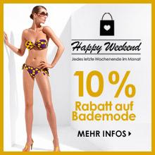 10% Rabatt auf Bademode