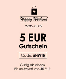 Happy Weekend - 5 EUR Einkaufsgutschein