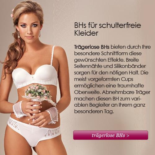 BHs für schulterfreie Hochzeitskleider