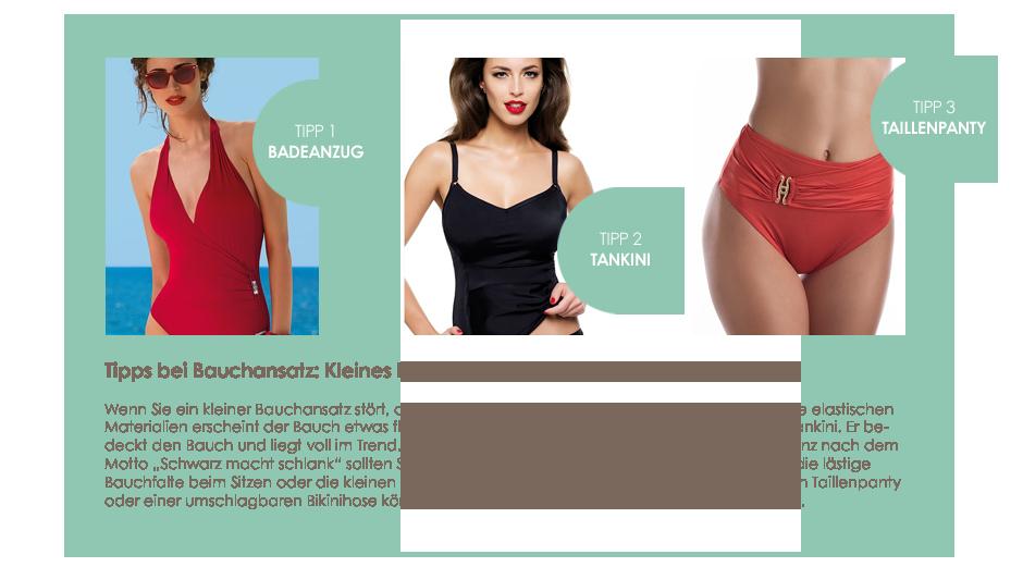Stylingtipps Bikini bei kleinem Bauchansatz