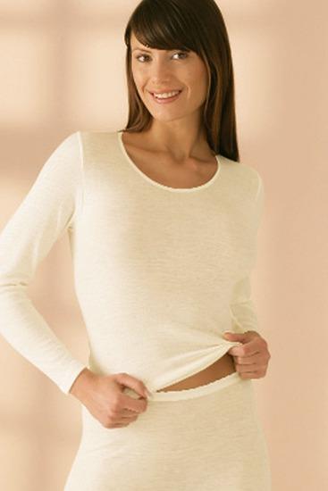 Abbildung zu Shirt, langarm (s7960832) der Marke Sangora aus der Serie Schurwolle/Modal