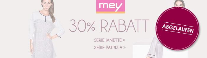 Abgelaufen! 30% Rabatt auf Nachtw�sche von Mey