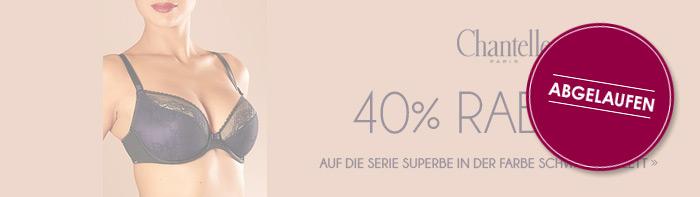 Abgelaufen! 40% Rabatt auf die Serie Suberbe in Farbe schwarz-violett