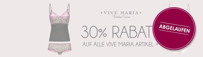 Abgelaufen! 30% Rabatt auf ALLE Artikel von Vive Maria