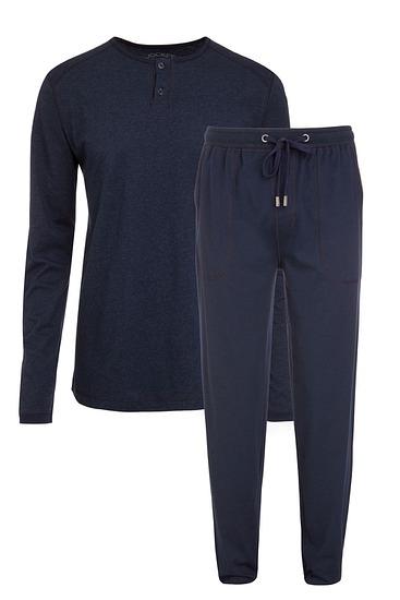Abbildung zu Pyjama lang navy melange (500005) der Marke Jockey aus der Serie Loungewear by Jockey
