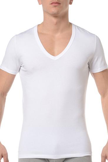 Abbildung zu T-Shirt, V-Ausschnitt (349789) der Marke HOM aus der Serie Smart Cotton