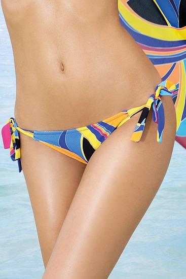 Abbildung zu Bikini-Slip mit Schnürung (EBA0127) der Marke Antigel aus der Serie La Sporty Tropique