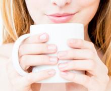 Shooting mit Tasse Kaffee