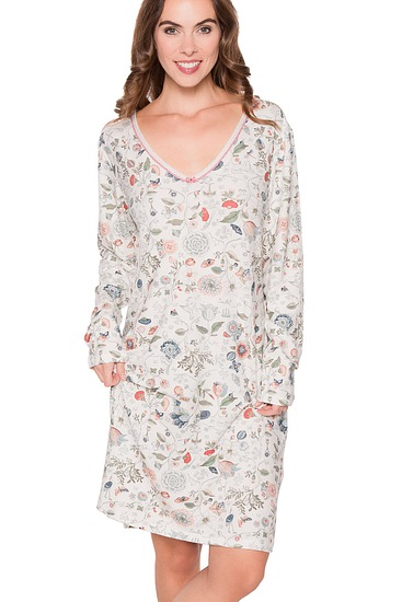 Abbildung zu Dana Spring to life Nightdress long sleeve (260483-328) der Marke Pip Studio aus der Serie Pip Homewear 2016