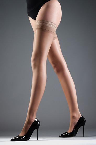 Abbildung zu Hold Ups Lace nude (35039) der Marke Bluebella aus der Serie Hosiery