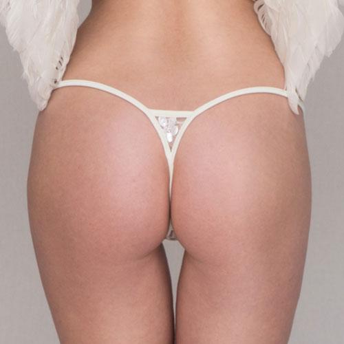 Abbildung zu Ivory Pearl Luxury Micro String (LC169IPM) der Marke Lucky Cheeks aus der Serie Luxury String Edition