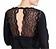 Rückansicht zu Pyjama lang, Spitze ( 1163578 ) der Marke Rösch aus der Serie Seduction in Black