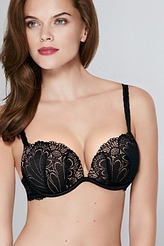 Wonderbra Full Effect Lace Push-Up-BH, Gel-Pads Refined Glamour