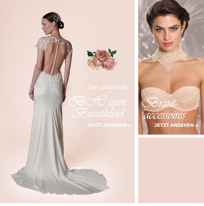 Der passende BH zum Brautkleid und Accessoires