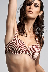 Marlies DekkersHoli Vintage red ecruPlunge Balconette Bikini-Oberteil