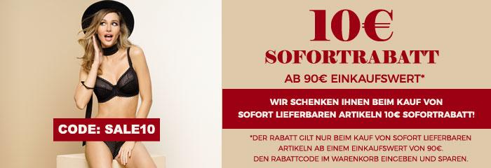 10 Euro Sofort-Rabatt