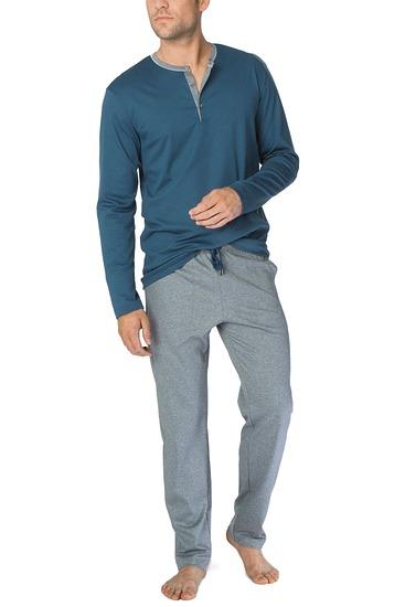 Abbildung zu Pyjama lang mit Knopfleiste (46267) der Marke Calida aus der Serie Steve
