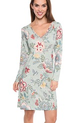 Pip Studio Pip Homewear 2017 Dana berry bird Nightdress long sleeve