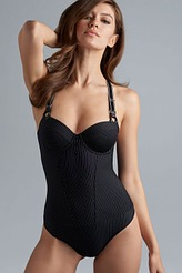 Marlies Dekkers Gloria black pinstripe Plunge Balconette Body