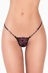 Lucky Cheeks Exklusiv String Edition Exquisite Black Luxus String