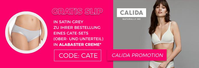 Slip geschenkt bei Kauf eines Sets der Calida Serie Cate