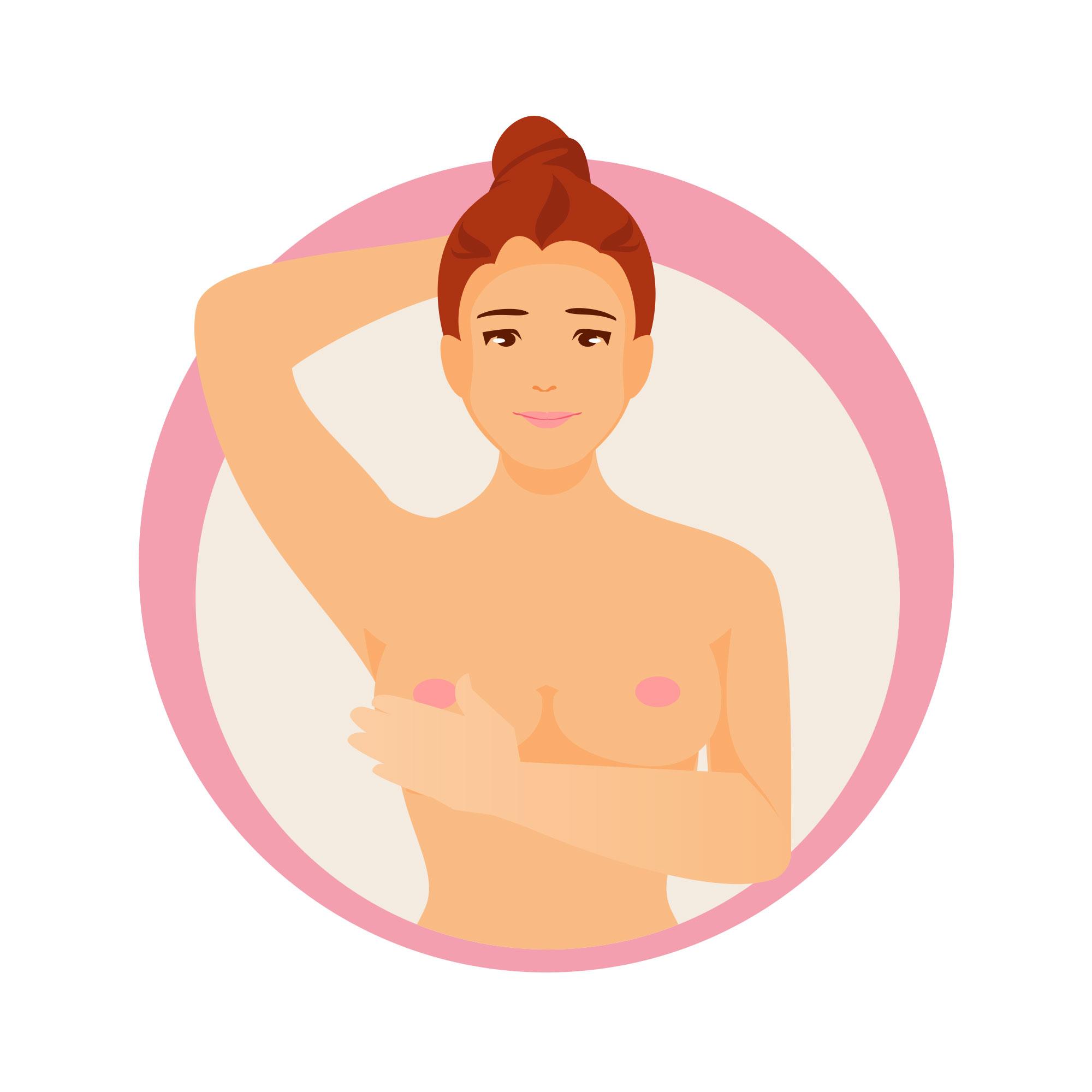 Brust abtasten - Schritt 4