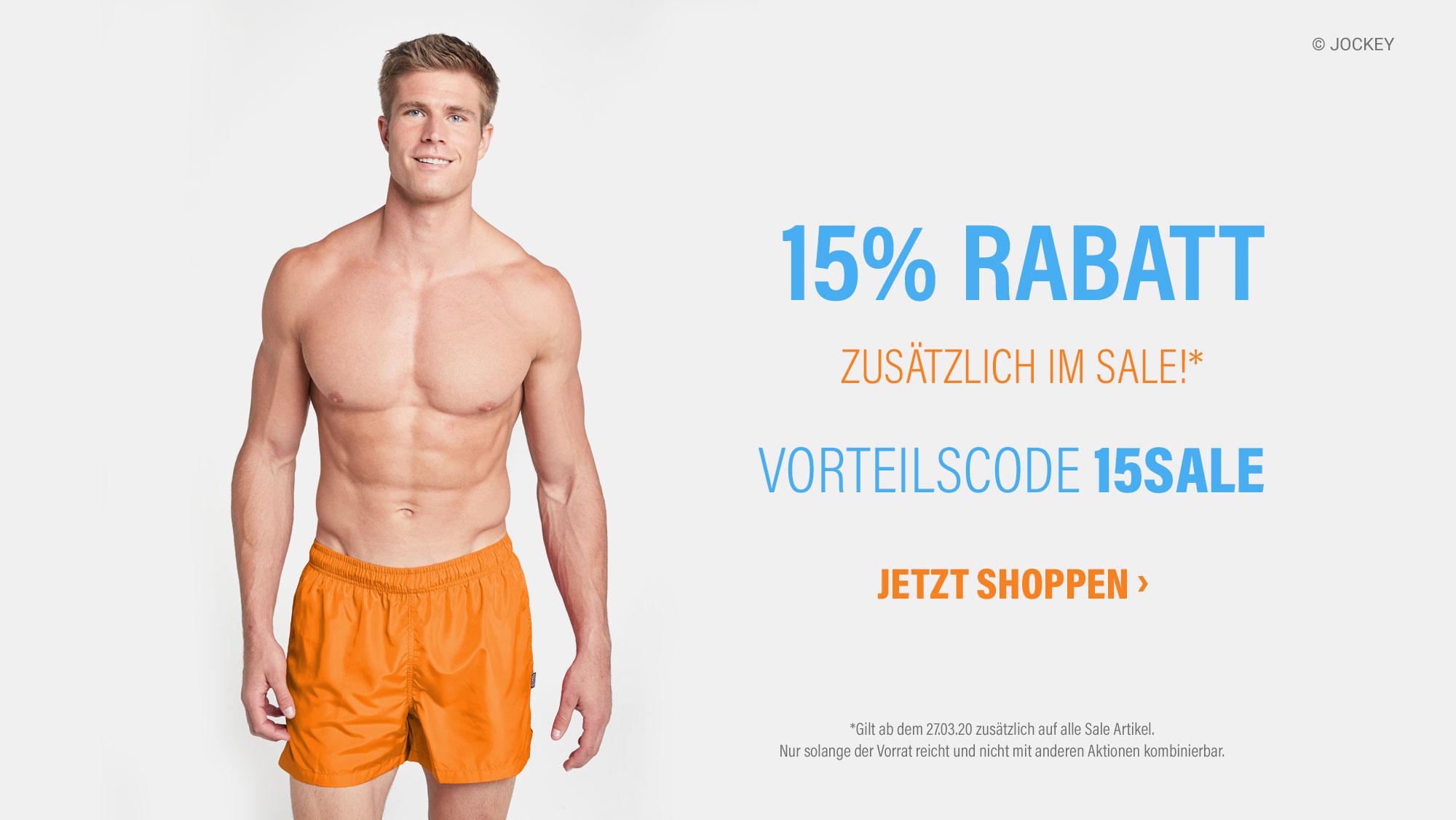 15% Rabatt zusätzlich im Sale