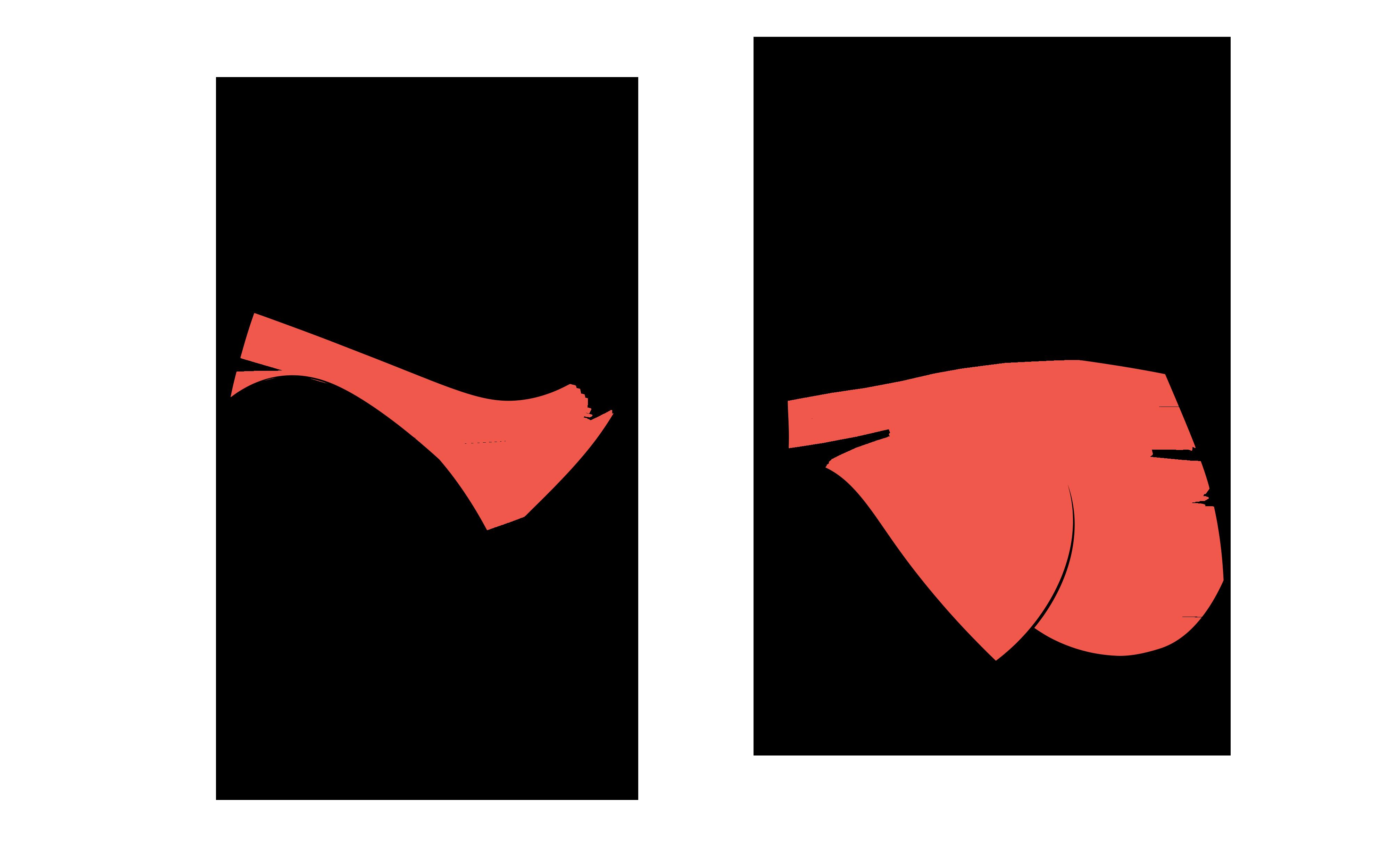 Die typische Schnittform eines Slips (Damenslip)
