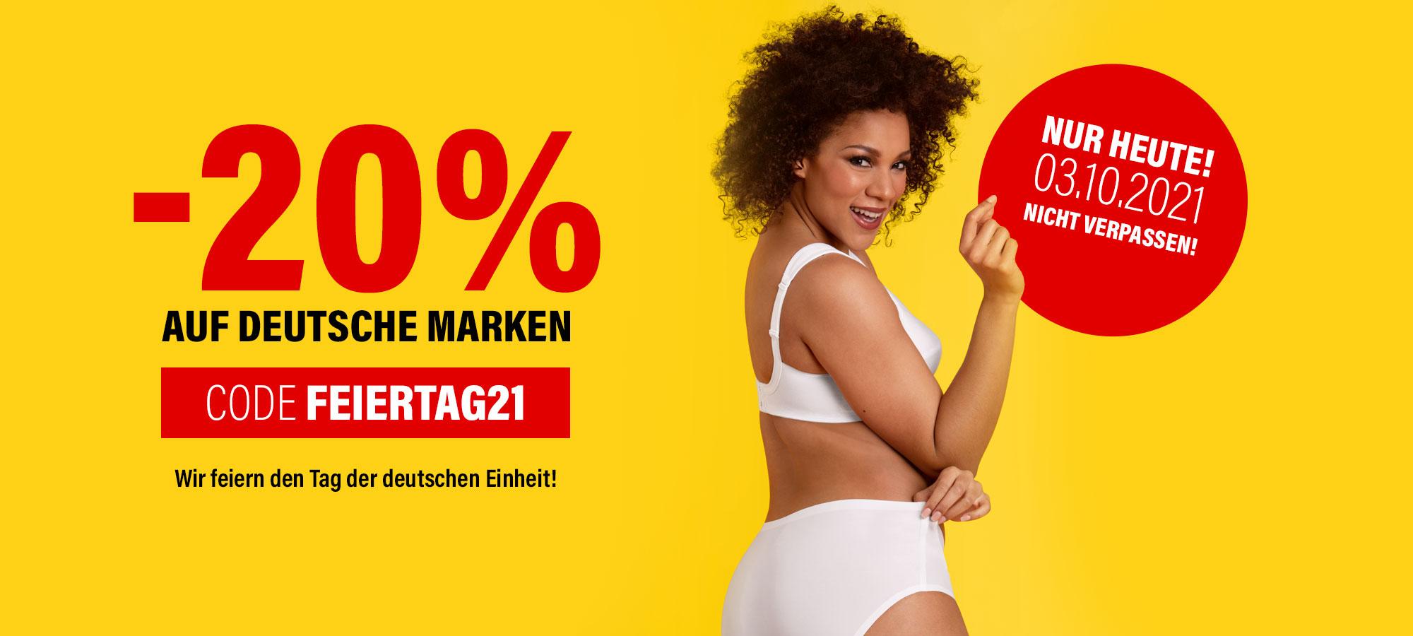 20% auf deutsche Marken
