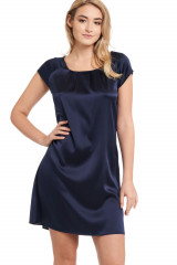Gattina Nachthemd, kurzarm, Blau, ArtikelNr 381423