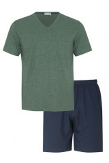 Mey Herrenwäsche Pyjama kurz Sunshine, Grün, ArtikelNr 17371