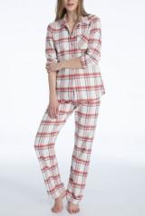 Calida Pyjama, Flanell, Mehrfarbig, ArtikelNr 41024
