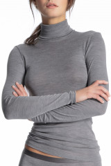 Calida Shirt langarm, Rollkragen, Grau, ArtikelNr 15335