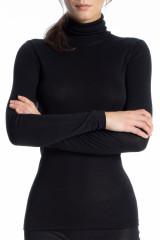 Calida Shirt langarm, Rollkragen, Schwarz, ArtikelNr 15335