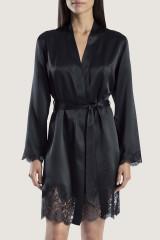 Aubade Kimono, Schwarz, ArtikelNr MS65