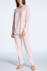 Calida Pyjama lang mit Bündchen, Rosa, ArtikelNr 41133