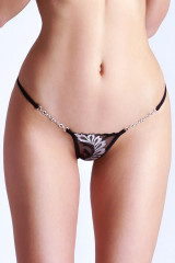 Lucky Cheeks Silver Moon Luxury String, Mehrfarbig, ArtikelNr LC151SV