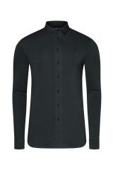Jockey Jersey Shirt langarm Slim, Schwarz, ArtikelNr 800102