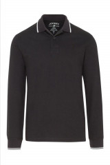Jockey Polo Shirt langarm, Schwarz, ArtikelNr 500712H