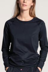 Calida Shirt langarm mit Bündchen, Blau, ArtikelNr 15035